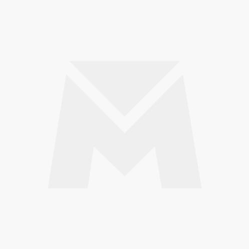 Pinca de Fixação Redonda em Aço Inox Polido 190x48mm para Vidro 10/12